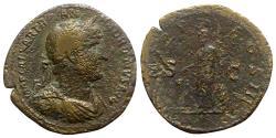 Ancient Coins - Hadrian (117-138). Æ Sestertius - Rome - R/ Minerva