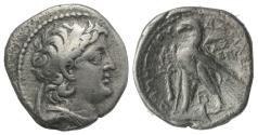 Ancient Coins - Seleukid Kings, Demetrios II Nikator (Second reign, 129-125 BC). AR Didrachm