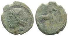 Ancient Coins - CARTHAGE, First Punic War. Circa 264-241 BC. Æ Shekel?