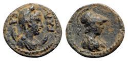 Ancient Coins - Pisidia, Sagalassos, c. 1st century AD. Æ - Men / Athena