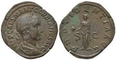 Ancient Coins - Gordian III (238-244). Æ Sestertius. Rome, AD 238. R/ PROVIDENTIA