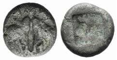 Ancient Coins - Lesbos, Unattributed early mint, c. 500-450 BC. BI 1/12 Stater. Confronted boars' heads.