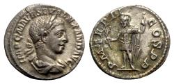 Ancient Coins - Severus Alexander (222-235). AR Denarius - Rome - R/ Mars
