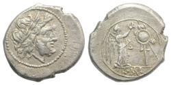 Ancient Coins - ROME REPUBLIC  Anonymous. 211-208 BC. AR Victoriatus NICE !!