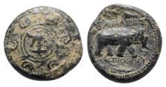 Ancient Coins - Seleukid Kings, Antiochos I (281-261 BC). Æ - Anchor / Elephant