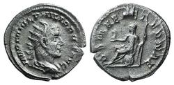 Ancient Coins - Philip I (244-249). AR Antoninianus. Rome, 246-7. R/ Roma seated