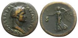 Ancient Coins - Galba (68-69). Æ Sestertius. Rome, c. November AD 68. R/ VICTORY