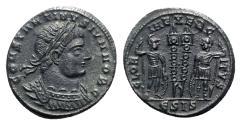 Ancient Coins - Constantine II (Caesar, 316-337). Æ Follis - Siscia