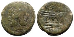 Ancient Coins - Cluvius Saxula, Rome, 169-158 BC. Æ As