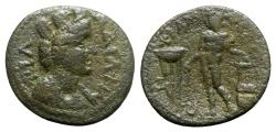 Ancient Coins - Lydia, Philadelphia, c. AD 193-211. Æ - tyche / Apollo - VERY RARE