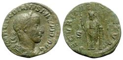 Ancient Coins - Gordian III (238-244). Æ Sestertius - Rome - R/ Securitas