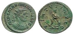 Ancient Coins - Maximianus (286-305). Radiate / Antoninianus - Lugdunum - R/ Hercules