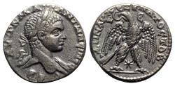 Ancient Coins - Elagabalus (218-222). Seleucis and Pieria, Antioch. Tetradrachm - R/ Eagle