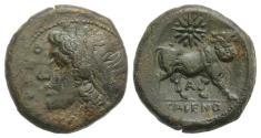 Ancient Coins - ITALY. CAMPANIA, Cales. Circa 265-240 BC. Æ 20mm NICE !!