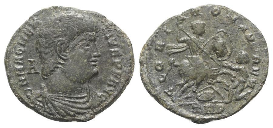 Ancient Coins - Magnentius (350-353). Æ Centenionalis. Treveri, AD 350. R/ Magnentius on horseback
