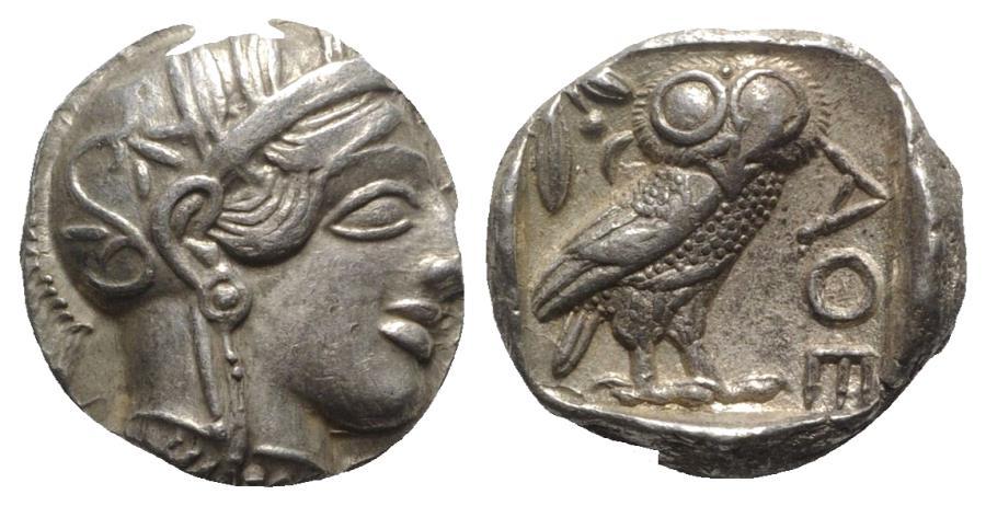 Ancient Coins - Attica, Athens, c. 454-404 BC. AR Tetradrachm
