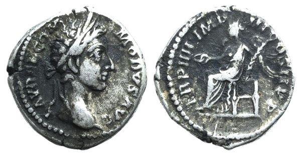 Ancient Coins - Commodus (177-192). AR Denarius. Rome, 179.  R/ Victory