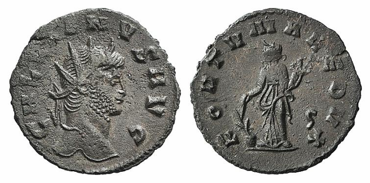 Ancient Coins - Gallienus (253-268). Antoninianus. Rome, 265-267. R/ FORTUNA