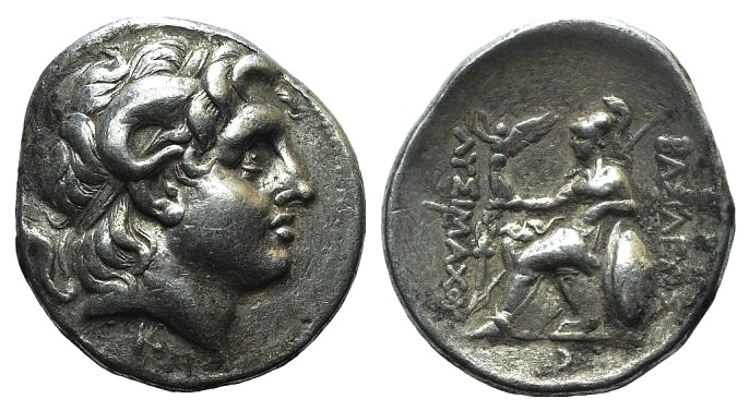 Ancient Coins - Kings of Thrace, Lysimachos (305-281 BC). AR Tetradrachm (32mm, 17.11g, 1h). Pergamon, c. 287/6-282.