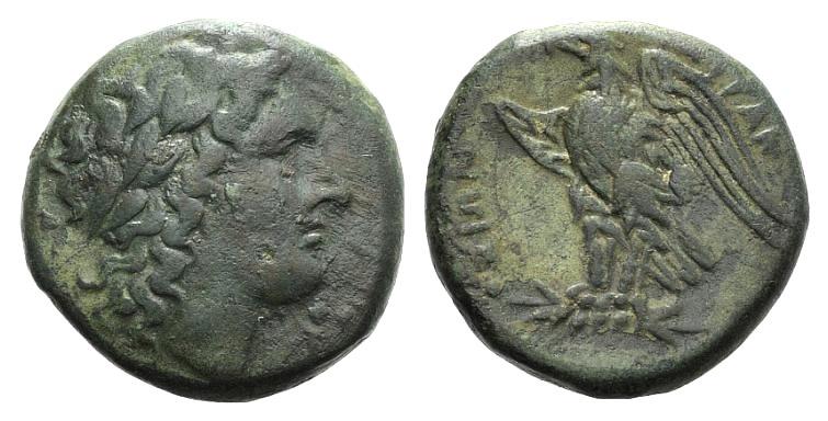 Ancient Coins - Sicily, Syracuse. Hiketas II (287-278 BC). AE Litra