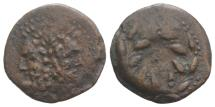 Ancient Coins - SICILY, Panormos. Roman protectorate. After 241 BC. Æ 21mm. Laureate head of Janus
