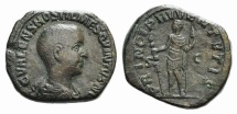 Ancient Coins - Hostilian. As Caesar, 250-251. Sestertius R/ PRINCIPI IVVENTVVTIS RARE