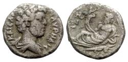 Ancient Coins - Marcus Aurelius (Caesar, 139-161). Egypt, Alexandria. BI Tetradrachm - year 18 - R/ Nilus