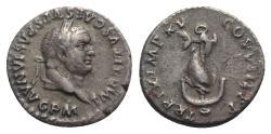 Ancient Coins - Titus (79-81). AR Denarius - Rome - R/ Dolphin on anchor