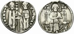 World Coins - Italy, Venezia. Giovanni Dandolo (1280-1289). AR Grosso. Doge and S. Marco. R/ Christ seated facing