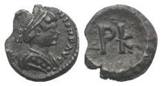 Ancient Coins - Justinian I. 527-565. AR 120 Nummi. Ravenna mint. Struck 552-565. RARE