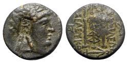 Ancient Coins - Seleukid Kings, Seleukos II (246-225 BC). Æ - Apollo / Tripod