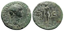 Ancient Coins - Domitian (81-96). Æ As - R/ Spes