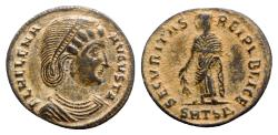 Ancient Coins - Helena (Augusta, 324-328/30). Æ Follis - Thessalonica - R/ Securitas