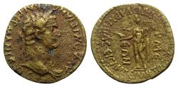 Ancient Coins - Domitian ( 81-96). Phrygia, Eumeneia. Æ - M. Kl. Valerianos, high priest of Asia
