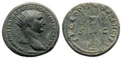 Ancient Coins - Trajan (98-117). Æ Dupondius - Rome - R/ Trophy