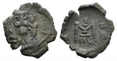 Ancient Coins - Constans II (641-668). Æ 10 Nummi. Syracuse, 654-659.