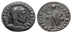 Ancient Coins - Constantine I (307/310-337). Æ Follis - Arelate - R/ Sol