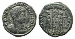 Ancient Coins - Constantine II (Caesar, 316-337). Æ Follis. Siscia, 330-3.
