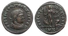 Ancient Coins - Constantine II (Caesar, 316-337). Æ Follis. Cyzicus, 321-4.  R/ Jupiter