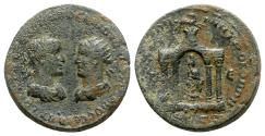 Ancient Coins - Trebonianus Gallus with Volusian (251-253). Seleucis and Pieria, Antioch. Æ 8 Assaria
