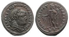 Ancient Coins - Constantius I (Caesar, 293-305). Æ Follis. Cyzicus, 295-6. R/ GENIUS