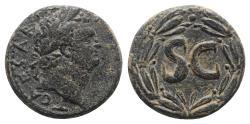 Ancient Coins - Titus (Caesar, 69-79). Seleucis and Pieria, Antioch. Æ Semis 20.5mm