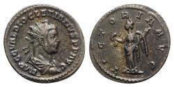 Ancient Coins - Diocletian (284-305). Radiate / Antoninianus - Lugdunum - R/ Victory