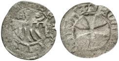 World Coins - Italy, Rome. Senate, c. 14th-15th century. BI Denaro Provisino. Comb R/ Cross