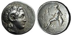 Ancient Coins - Kings of Thrace, Lysimachos (305-281). AR Tetradrachm. Sardes, c. 297-287 BC.