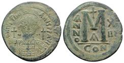 Ancient Coins - Justinian I (527-565). Æ 40 Nummi - Constantinople, year 13 (539/40)