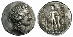 Ancient Coins - ISLANDS off THRACE, Thasos. Mid 2nd-mid 1st centuries BC. AR Tetradrachm. Wreathed head of Dionysos / Herakles