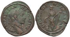 Ancient Coins - Severus Alexander (222-235). Æ Sestertius. Rome, AD 231. R/ PROVIDENTIA