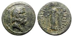 Ancient Coins - Thrace, Perinthus. Pseudo-autonomous issue, time of the Antonines. Æ - Zeus / Apollo