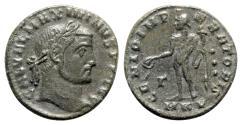 Ancient Coins - Galerius (305-311). Æ Follis - Cyzicus - R/ Genius